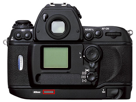 Nikon F6 seri numarası