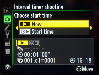 Interval Timer and Time-lapse Photography